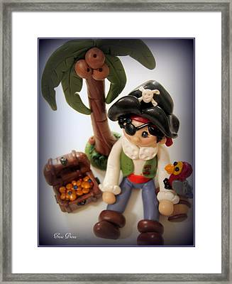 Pirate Scene Framed Print by Trina Prenzi