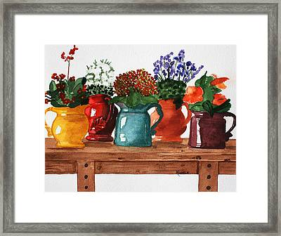 Pitchers In Bloom Framed Print