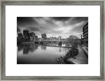 Pittsburgh Architecture  102 Bw Framed Print by Emmanuel Panagiotakis