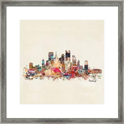 Pittsburgh City Skyline Framed Print