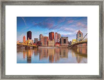 Pittsburgh North Shore  Framed Print by Emmanuel Panagiotakis