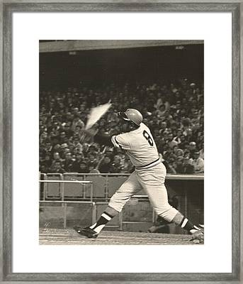 Pittsburgh Pirate Willie Stargell Batting At Dodger Stadium  Framed Print