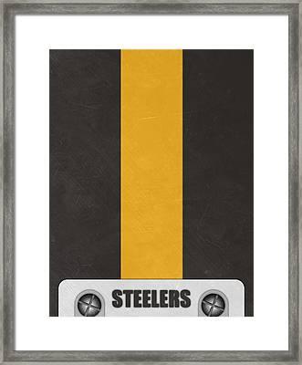 Pittsburgh Steelers Helmet Art Framed Print by Joe Hamilton