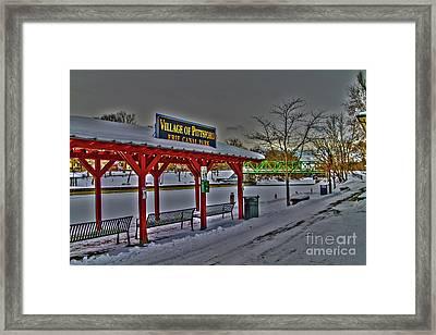 Pittsford Canal Park Framed Print