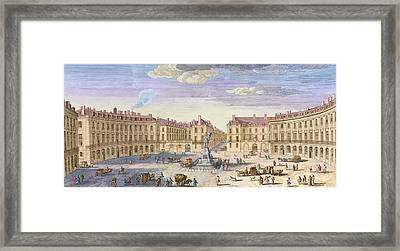 Place Des Victoires Framed Print by Jacques Rigaud