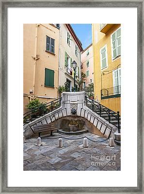 Place Du Conseil In Villefranche-sur-mer Framed Print by Elena Elisseeva