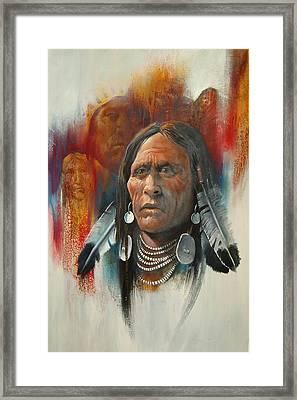 Plainsman Framed Print by Robert Carver