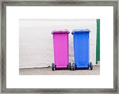 Plastic Bins Framed Print