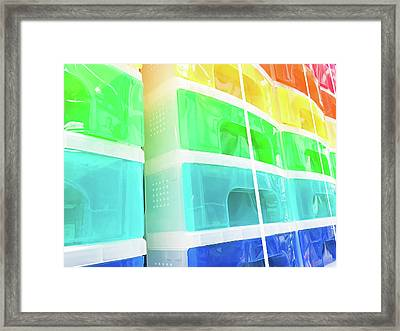 Plastic Drawers Framed Print by Tom Gowanlock