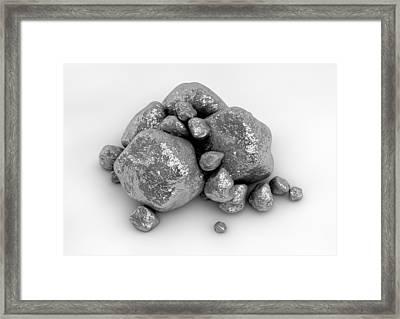 Platinum Nuggets Framed Print