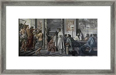 Plato's Symposium Framed Print