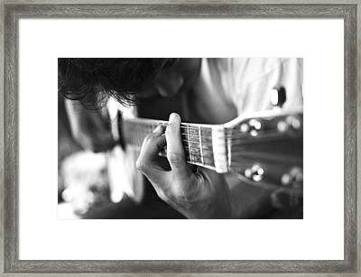 Play Acoustic Guitar Framed Print