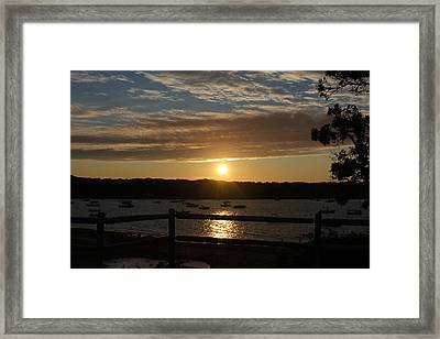 Pleasant Bay Sunset Framed Print by Amy Coomber Eberhardt