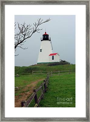 Plymouth Gurnet Lighthouse Framed Print