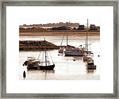 Plymouth Harbor At Low Tide Framed Print