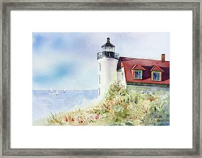 Point Betsie Framed Print by Bobbi Price