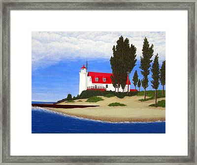 Point Betsie Lighthouse Framed Print by Frederic Kohli