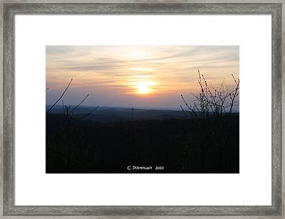 Point Mountain Sunset Framed Print