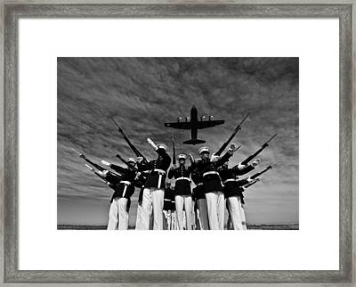 Pointing The Way Framed Print