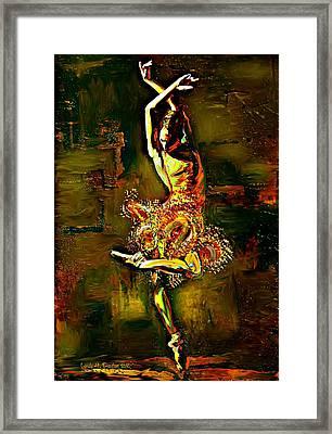 Poise Framed Print by Lynda Payton