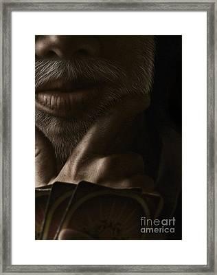Poker Face Framed Print
