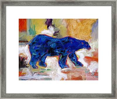 Polar Bear Framed Print by David Lloyd Glover