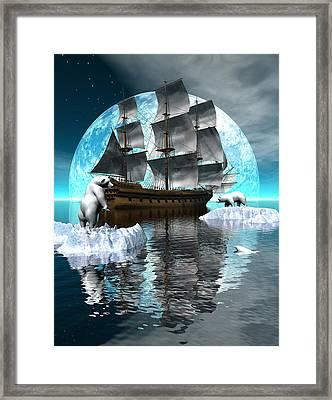 Polar Expedition Framed Print by Claude McCoy
