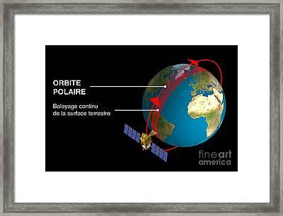 Polar Orbit Diagram Framed Print by David Ducros, CNES