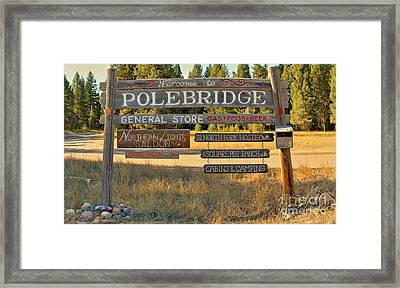 Polebrdge Welcome Sign Framed Print by Adam Jewell