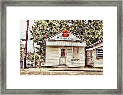 Polk's Meat Market Framed Print by Scott Pellegrin