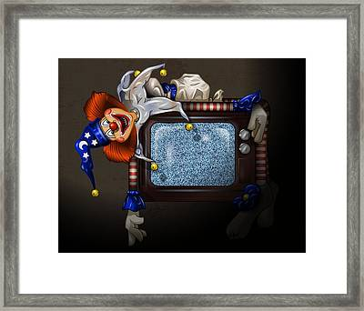 Poltergeist Clown Framed Print by Andy Bauer