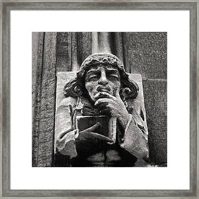 Pondering Gargoyle University Of Chicago 1976 Framed Print
