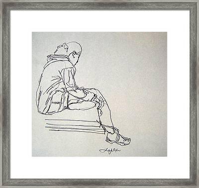 Pondering Framed Print by Lee Nixon