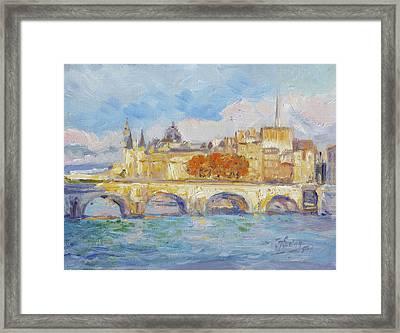 Pont Neuf, Paris Framed Print