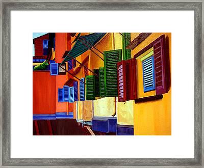 Ponte Vecchio Detail Framed Print