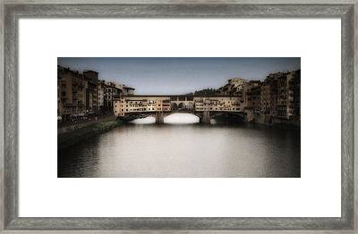 Ponte Vecchio Framed Print by Andrew Soundarajan