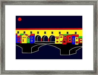 Ponte Vecchio Inspirations Framed Print by Asbjorn Lonvig