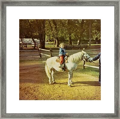 Pony Ride Framed Print by JAMART Photography