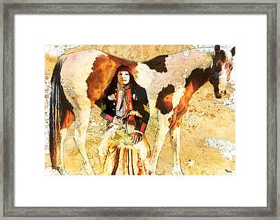 Pony Soldier Framed Print