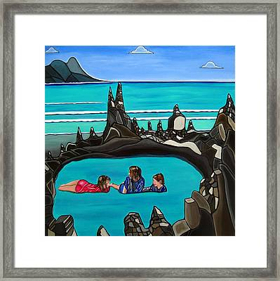 Pool Party Framed Print by Sandra Marie Adams