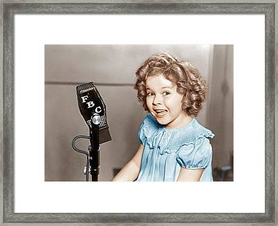 Poor Little Rich Girl, Shirley Temple Framed Print