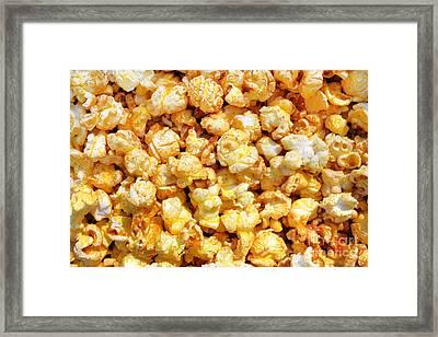 Popcorn Background Framed Print by Carlos Caetano