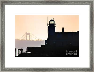 Poplar Point Lighthouse Framed Print