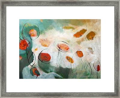 Poppies In The Clouds Framed Print by Teofana Zaric