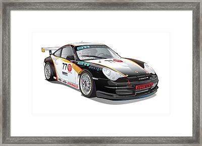 Porsche 996 Gt3 Cup Framed Print