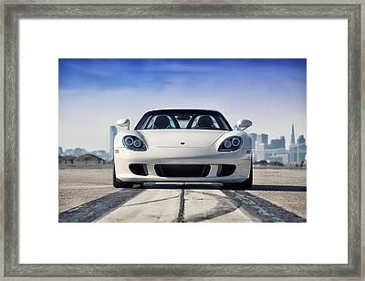 Framed Print featuring the photograph #porsche #carreragt by ItzKirb Photography
