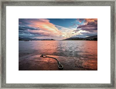 Port Appin Sunrise Framed Print