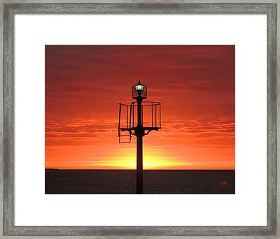 Framed Print featuring the photograph Port Hughes Lookout by Linda Hollis