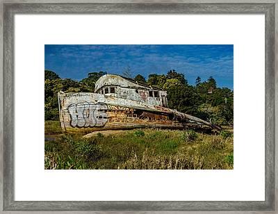 Port Side Of The Pt Reyes Framed Print by Bill Gallagher