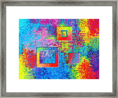Portals Of Color Framed Print